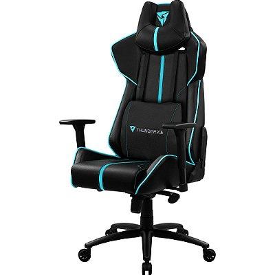 Cadeira Gamer BC7 Larger 200Kg Black Cyan THUNDERX3