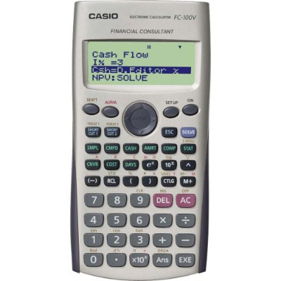 Calculadora Financeira FC-100V Branca CASIO
