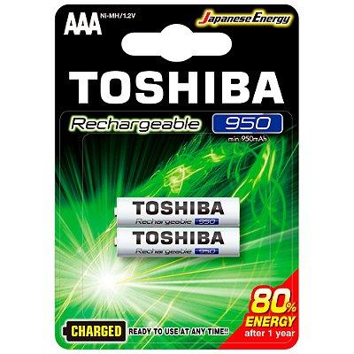 Pilha Recarregável AAA 1,2V 950mAh TNH3GAE TOSHIBA (Cartela com 2 unid.) - CXF / 14