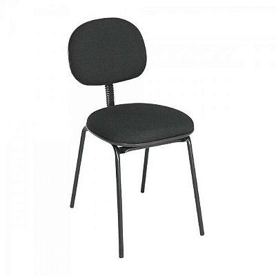 Cadeira Fixa Palito Preta MULTIVISÃO