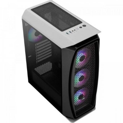 Gabinete Gamer Mid Tower RGB Aero One Frost Branco AEROCOOL