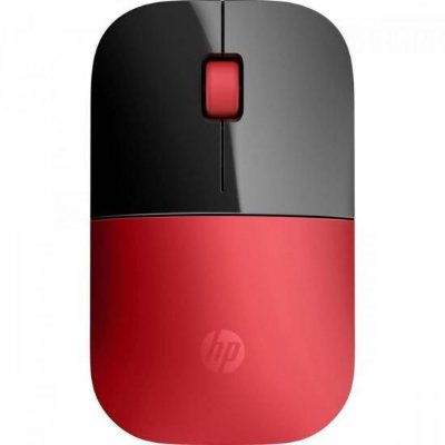 Mouse sem Fio USB 1200 DPI Z3700 Preto/Vermelho HP