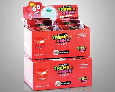 Barras de gelatina Tremendinha  framboesa com 16 unid.