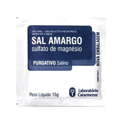 Sal Amargo Purificado 15gr Catarinense