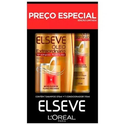 Kit Elseve Shampoo 375ml + Condicionador 170 Óleo Extra