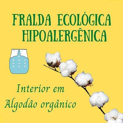 Fralda Hipoalergênica (Interior em algodão orgânico)