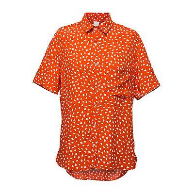 Camisa Kore Poás Vermelho + Branco