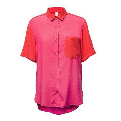 Camisa Kore Rosa + Vermelho