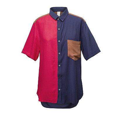 Camisa Kore Azul + Cherry + Terra