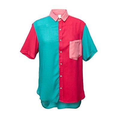 Camisa Kore Verde + Rosa + Salmão