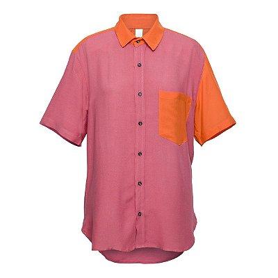 Camisa Kore Rosa + Laranja