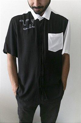 Camisa Kore Florescer Preta