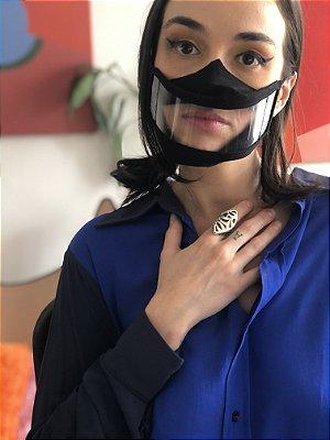 Mascara para Leitura Labial Preto