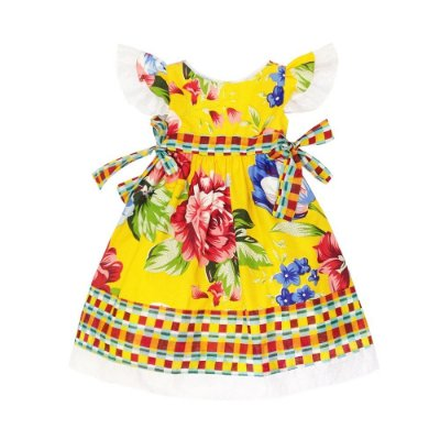 Vestido Junino Barrado Floral