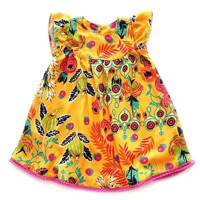 Vestido Natureza Tropical Pompom