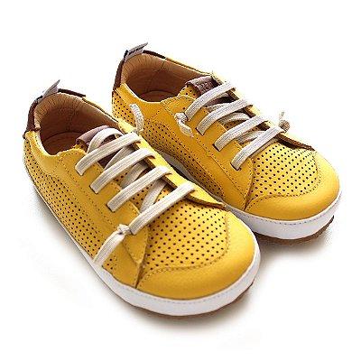Tênis Couro Air Yellow