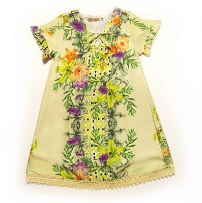 Vestido Rendado Botânico
