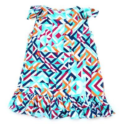 Vestido Trapézio Geométrico