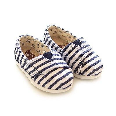 Alpargata  Perkyds Blue Rustic Stripes