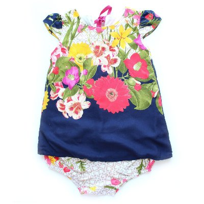 Vestido Trapézio Baby Ramalhete