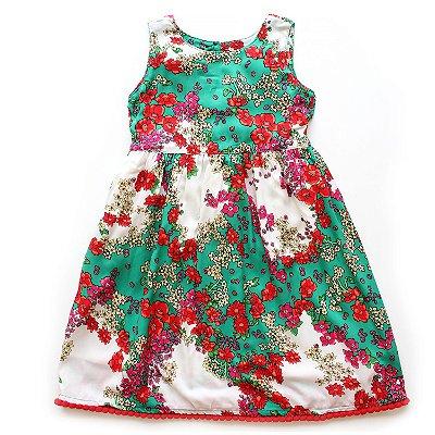 Vestido Pompom Flores do Campo