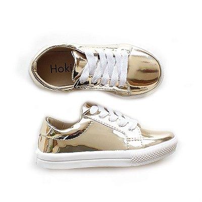 Tênis Glam Gold