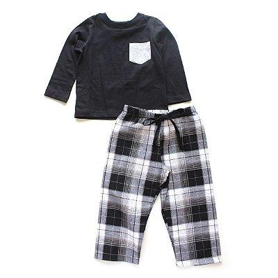 Pijama Black Xadrez