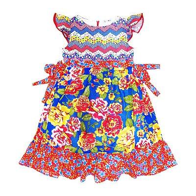 Vestido Junino Rodado Floral