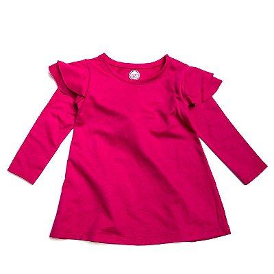 Vestido Frufru Fleece Pink