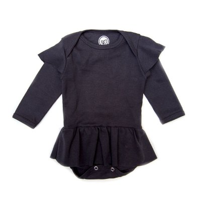 Body Sainha Manga Longa Black