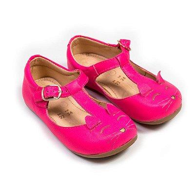 Sapatilha Gatinho Hot Pink