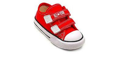 Tênis All Star Converse Velcro Vermelho