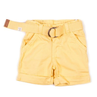 Short com Cinto Color Amarelo Banana