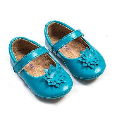 Sapatilha Azul Tifany Florzinha