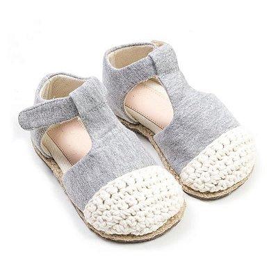 Sapatinho Eco Boneca Crochet Mescla