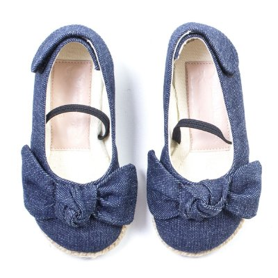 Sapatilha Eco Corda Laçarote Jeans Azul