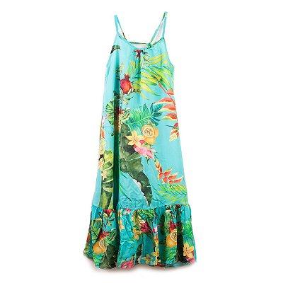 Vestido Longo Flor de Maracujá