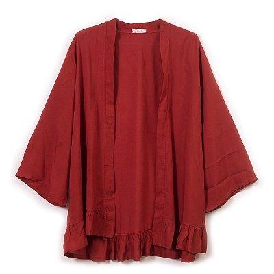 Bata Kimono Ferrugem - MÃE