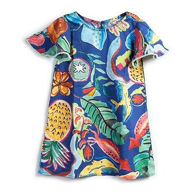 Vestido Trapézio Salada de Frutas