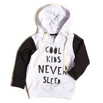 Moletom Raglan Capuz Cool Kids Never Sleep