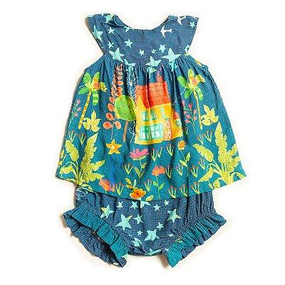 Vestido Baby Noite Estrelada
