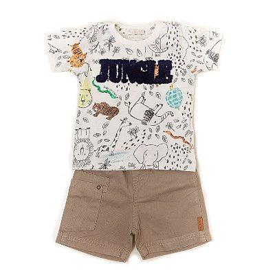 Conjuntinho T-shirt + Short Jungle Bichos