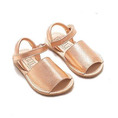Sandália Avarca Rosê Metalizado