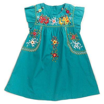 Vestido Bordado Mexicano Tiffany
