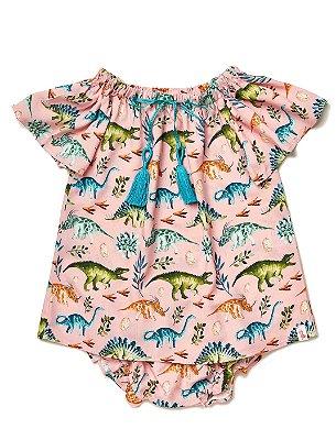 Vestido Baby Dinos Rosa