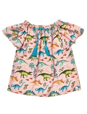 Vestido Kids Dinos Rosa