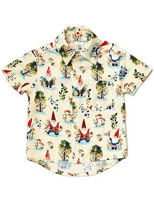 Camisa Kids Gnomos Baunilha