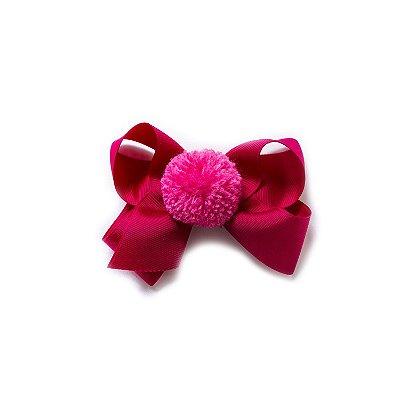 Maxi Laço Pompom - Pink