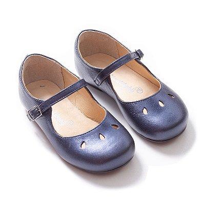 Sapatilha Cuti Couro Azul Jeans