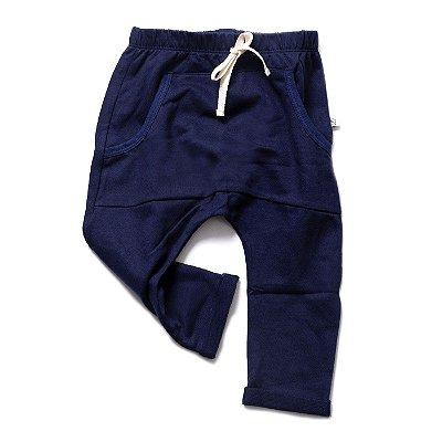 Calça Street Saruel com Bolso - Moletinho Azul Marinho